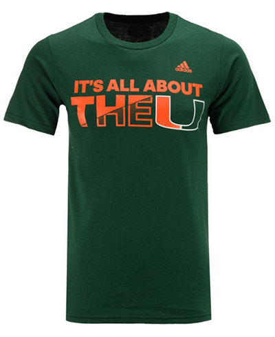 adidas Men's Miami Hurricanes All About the U T-Shirt