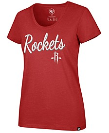 Women's Houston Rockets Script Scoop T-Shirt