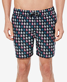 "Original Penguin Men's Digital Pete Printed Volley 6"" Swim Trunks"