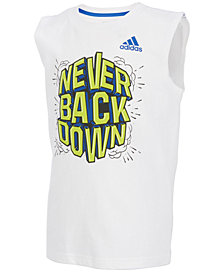 adidas Graphic-Print Cotton Tank Top, Little Boys