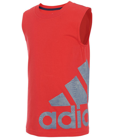 adidas Graphic-Print Cotton Tank Top, Toddler Boys