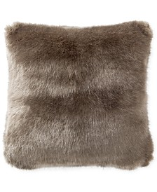 "Waterford Carrick 16"" Square Faux-Fur Decorative Pillow"