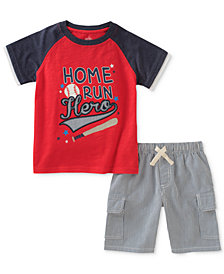 Kids Headquarters 2-Pc. Graphic-Print Cotton T-Shirt & Shorts Set, Toddler Boys