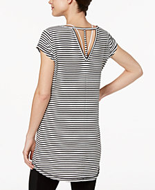 Ideology Striped V-Back Tunic, Created for Macy's