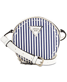 GUESS Sawyer Circle Striped Crossbody