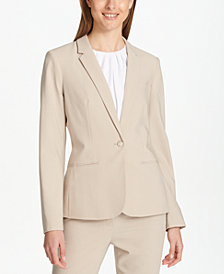 Calvin Klein One-Button Blazer, Regular & Petite