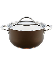 Anolon Nouvelle 4-Qt. Copper Luxe Sable Hard-Anodized Non-Stick Casserole