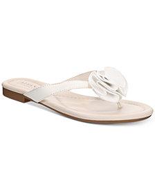 Alfani Women's Heathh Step 'N Flex Flip Flops, Created for Macy's
