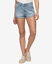 Roxy Juniors' Cuffed Denim Shorts