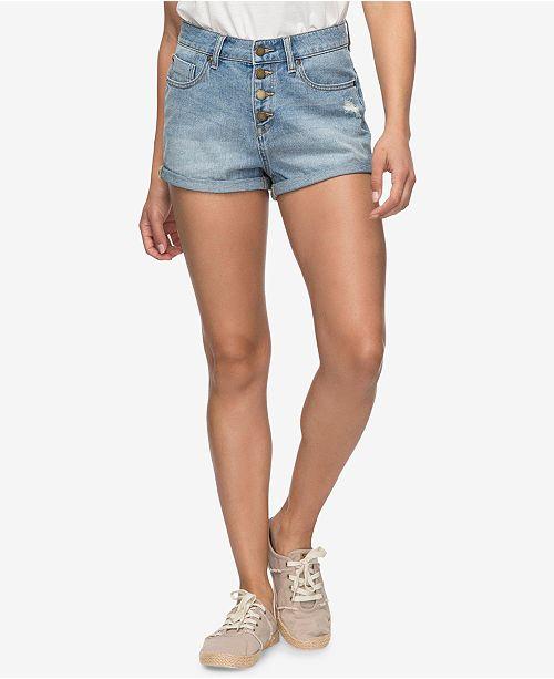 Roxy Juniors' Cuffed Denim Shorts