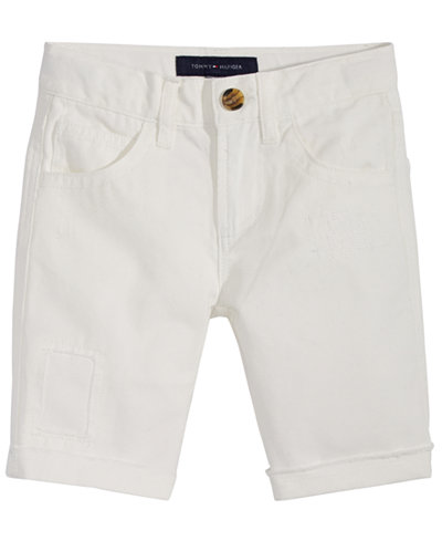 Tommy Hilfiger Five-Pocket Cotton Shorts, Little Boys