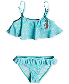 Roxy 2-Pc. Floral-Print Bikini, Little Girls