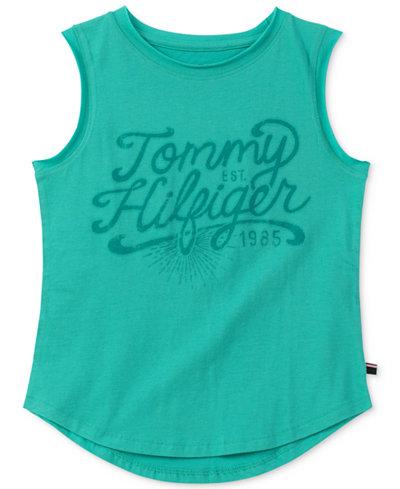 Tommy Hilfiger Sleeveless Cotton T-Shirt, Big Girls