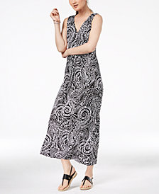 Charter Club Petite Printed Maxi Dress, Created for Macy's