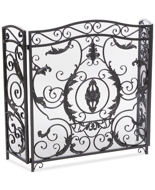 Noble House Flower Fireplace Screen, Quick Ship