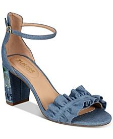 Women's Rise Ruffle Block-Heel Sandals