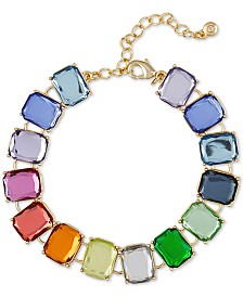 RACHEL Rachel Roy Gold-Tone Multi-Stone Link Bracelet