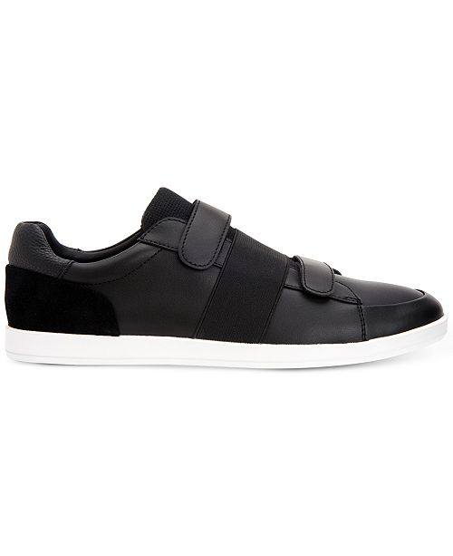 Calvin Klein Mace (Black Brushed Leather) Mens Shoes Free Shipping Shop pDT47