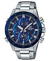 99eb07a2608 G-Shock Men s Solar Edifice Stainless Steel Bracelet Watch 42mm