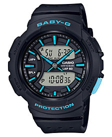 Baby-G Women's Analog-Digital Black Resin Strap Watch 42.6mm