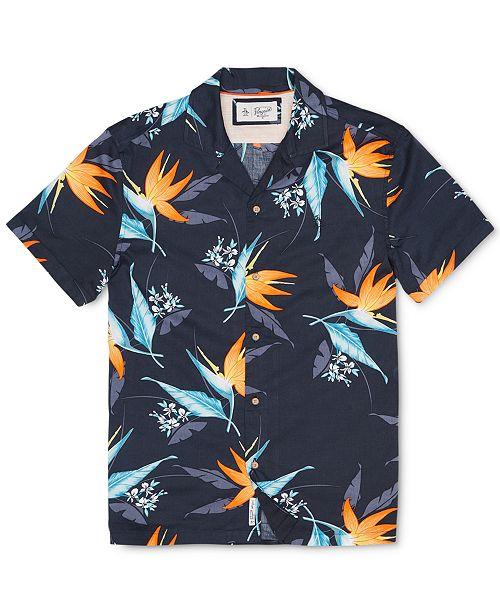 4b27900e Original Penguin Men's Tropical Floral-Print Shirt & Reviews ...