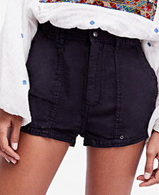 Free People Beacon Linen Utility Shorts