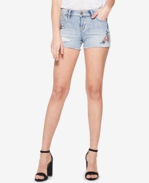 Silver Jeans Co. Aiko Embroidered Denim Shorts 5861326