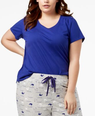 Plus Size Cotton Knit Pajama Top, Created for Macy's