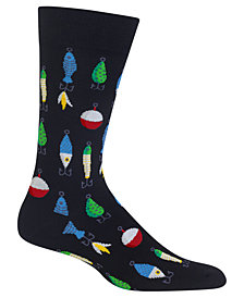 Hot Sox Men's Fishing Lures Socks