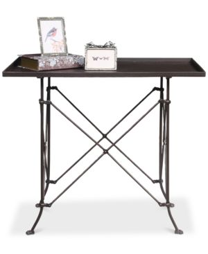 "Image of 27""H Bronze Metal Table"