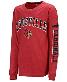Colosseum Louisville Cardinals Grandstand Long Sleeve T-Shirt, Big Boys (8-20)