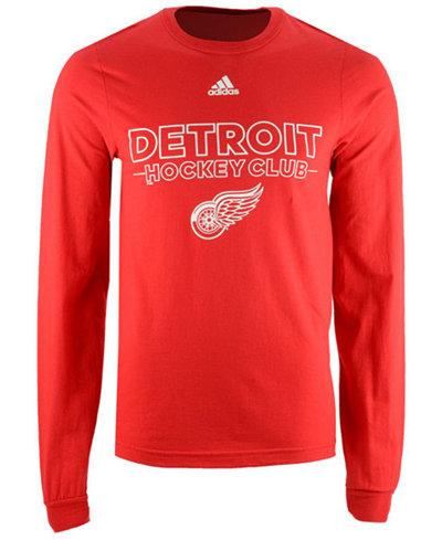 adidas Men's Detroit Red Wings Frontline Long Sleeve T-Shirt