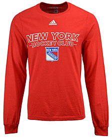 adidas Men's New York Rangers Frontline Long Sleeve T-Shirt