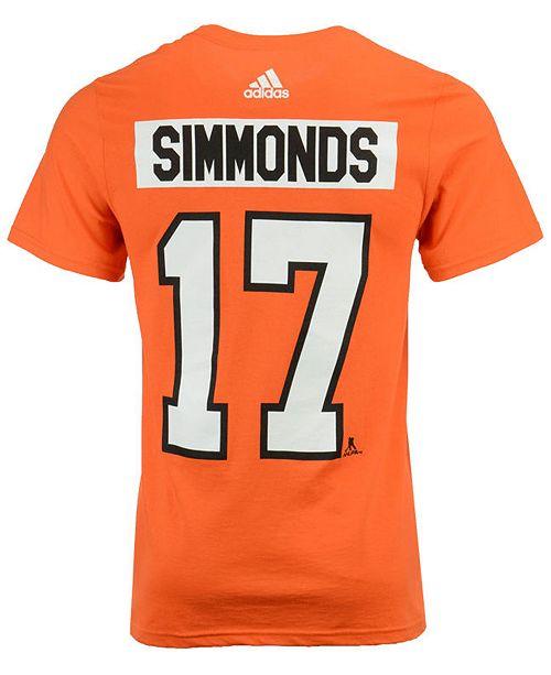 cheap for discount d68bb 9fbfe Men's Wayne Simmonds Philadelphia Flyers Silver Player T-Shirt