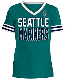 5th & Ocean Seattle Mariners Rhinestone T-Shirt, Girls (4-16)