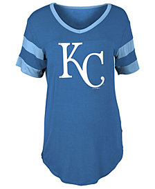 5th & Ocean Women's Kansas City Royals Sleeve Stripe Relax T-Shirt