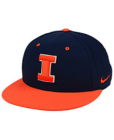 Nike Illinois Fighting Illini Aerobill True Fitted Baseball Cap
