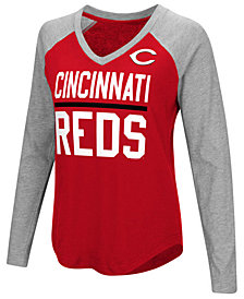 G-III Sports Women's Cincinnati Reds Power Hitter Raglan T-Shirt