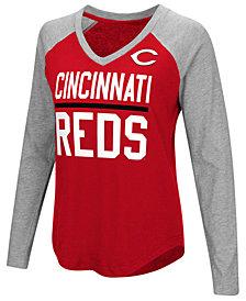 G-III Sports Women's Cincinnati Reds Power Hitter Raglan T-Shirt
