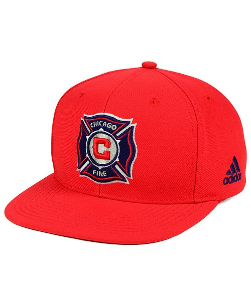 9180930faf8 adidas Chicago Fire Poly Snapback Cap - Sports Fan Shop By Lids ...
