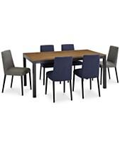 Gatlin Dining Furniture 7 Pc Set Table Blue