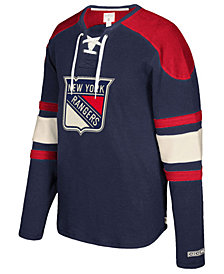 CCM Men's New York Rangers Laces Crew Shirt