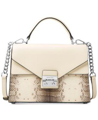 michael kors sloan top handle medium satchel handbags rh macys com