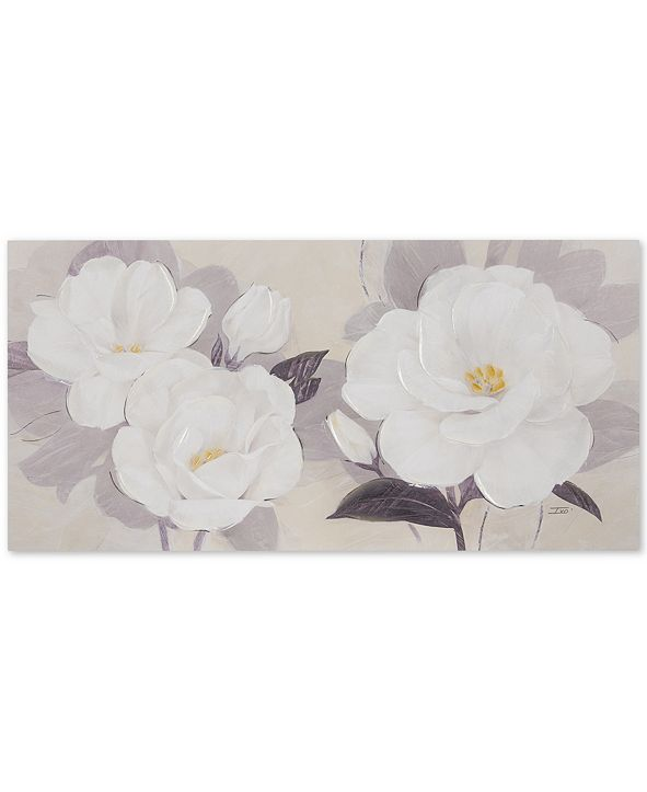 JLA Home Madison Park Midday Bloom Florals Hand-Embellished Canvas Print