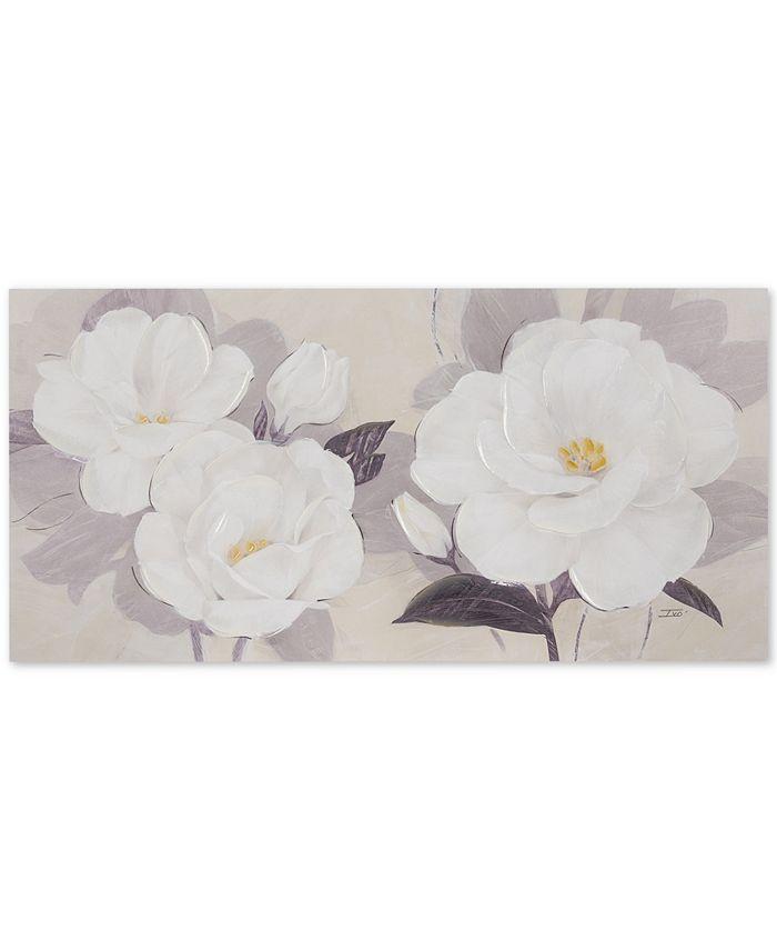 JLA Home - Madison Park Midday Bloom Florals Hand-Embellished Canvas Print