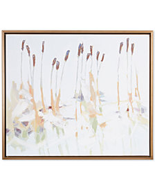 Madison Park Signature Chesapeake Cattails Hand-Embellished Canvas Print with Bronze-Tone Frame