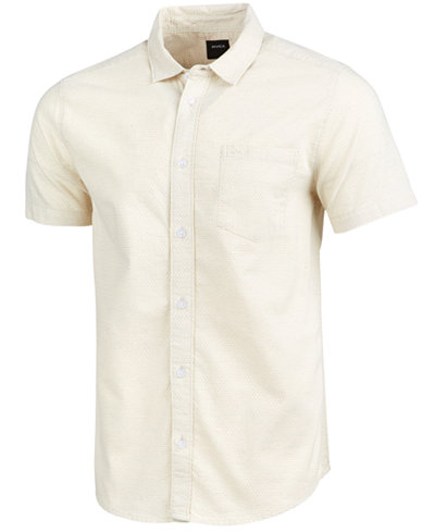 RVCA Men's Dips Dot-Pattern Shirt