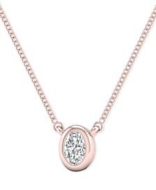 "Diamond Oval 18"" Pendant Necklace (1/10 ct. t.w.)"