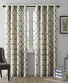 INK+IVY Ankara Cotton Ikat-Print Grommet Curtain Panels