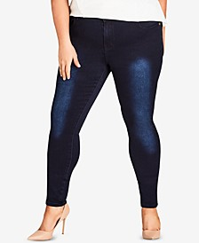 Trendy Plus Size Ultra-Skinny Short Jeans